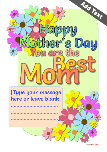 Best mom poster for mothers day free to print and download.