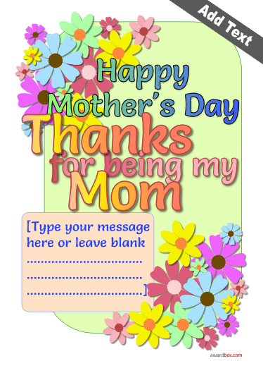 modern flower highly colored design with mothers day message for printable download