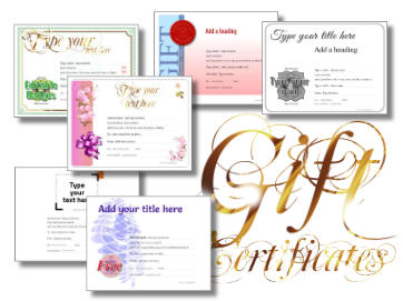 gift certificate blank link Image